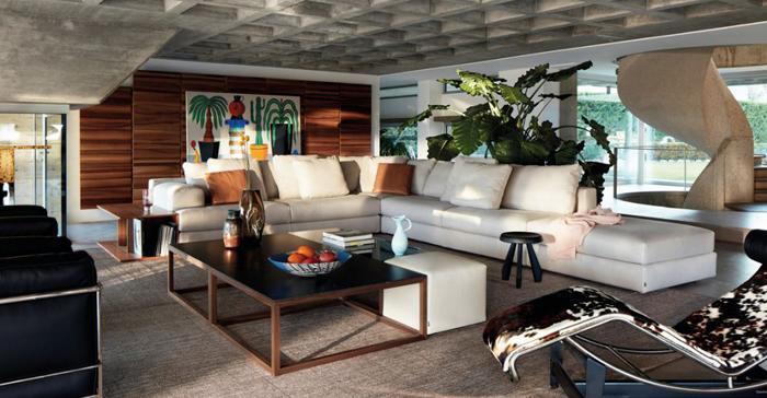 salón con muebles de la marca Cassina